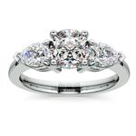 Pear Diamond Engagement Ring in Platinum (3/4 ctw) | Thumbnail 01