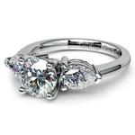 Pear Diamond Engagement Ring in Platinum (3/4 ctw) | Thumbnail 04