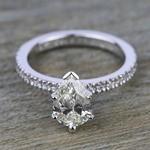 Petite Pave Diamond Engagement Ring in Palladium (1/4 ctw) | Thumbnail 05