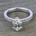 Petite Pave Diamond Engagement Ring in White Gold (1/4 ctw) | Thumbnail 05