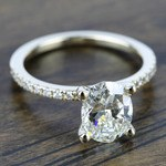 Petite Pave Diamond Engagement Ring in Yellow Gold (1/4 ctw) | Thumbnail 05