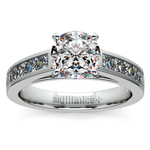 Princess Channel Diamond Engagement Ring in White Gold (3/4 ctw) | Thumbnail 01