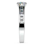 Princess Channel Diamond Engagement Ring in White Gold (3/4 ctw) | Thumbnail 03