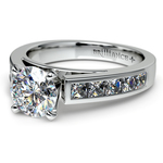 Princess Channel Diamond Engagement Ring in White Gold (3/4 ctw) | Thumbnail 04