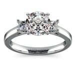 Princess Trellis Diamond Engagement Ring in White Gold (1/4 ctw) | Thumbnail 01