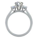 Princess Trellis Diamond Engagement Ring in White Gold (1/4 ctw) | Thumbnail 02