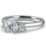 Princess Trellis Diamond Engagement Ring in White Gold (1/4 ctw) | Thumbnail 04