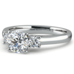 Round Diamond Engagement Ring in White Gold (1/4 ctw) | Thumbnail 04