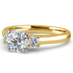 Round Diamond Engagement Ring in Yellow Gold (1/4 ctw) | Thumbnail 04