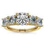 Trellis Five Diamond Engagement Ring in Yellow Gold (3/4 ctw) | Thumbnail 01