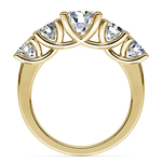 Trellis Five Diamond Engagement Ring in Yellow Gold (3/4 ctw) | Thumbnail 02