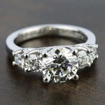Trellis Five Diamond Engagement Ring in Platinum (3/4 ctw) | Thumbnail 05