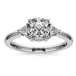 Trillion Diamond Engagement Ring in White Gold (1/4 ctw) | Thumbnail 01