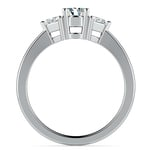 Trillion Diamond Engagement Ring in White Gold (1/4 ctw) | Thumbnail 02