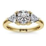 Trillion Diamond Engagement Ring in Yellow Gold (3/4 ctw) | Thumbnail 01