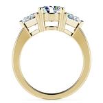 Trillion Diamond Engagement Ring in Yellow Gold (3/4 ctw) | Thumbnail 02