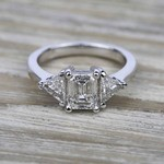 Trillion Diamond Engagement Ring in White Gold (3/4 ctw) | Thumbnail 05
