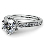 Tulip Pave Diamond Engagement Ring in Palladium (1/4 ctw) | Thumbnail 04