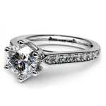 Tulip Pave Diamond Engagement Ring in White Gold (1/4 ctw) | Thumbnail 04