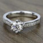 Tulip Pave Diamond Engagement Ring in Platinum (1/4 ctw)    Thumbnail 05
