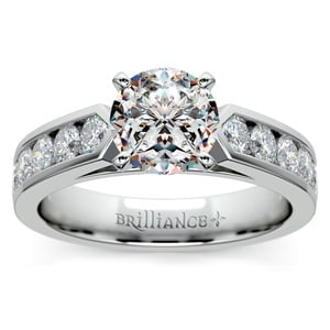 Channel Diamond Engagement Ring in Platinum (3/4 ctw)