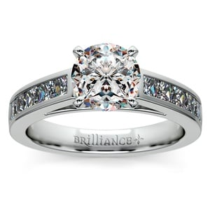 Princess Channel Diamond Engagement Ring in Platinum (3/4 ctw)