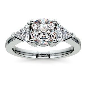 Trillion Diamond Engagement Ring in Platinum (3/4 ctw)