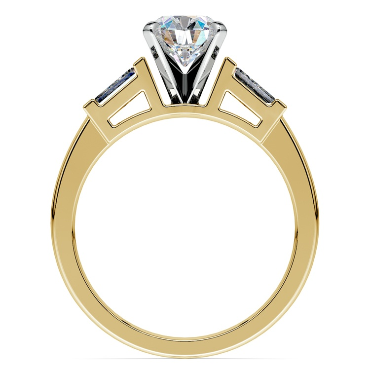 Baguette Diamond Engagement Ring in Yellow Gold (1/4 ctw) | 02