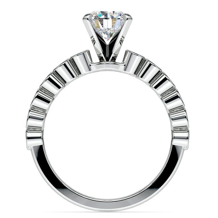 Bezel Diamond Engagement Ring in White Gold (1/4 ctw) | 02