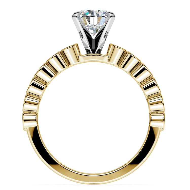 Bezel Diamond Engagement Ring in Yellow Gold (1/4 ctw) | 02