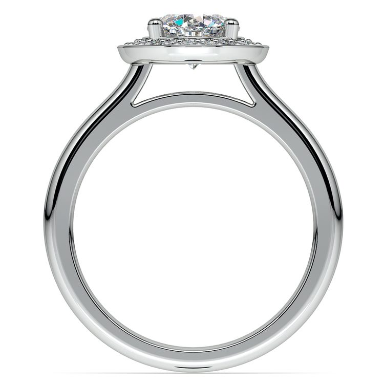 Halo Diamond Engagement Ring in Platinum (1/4 ctw) | 02