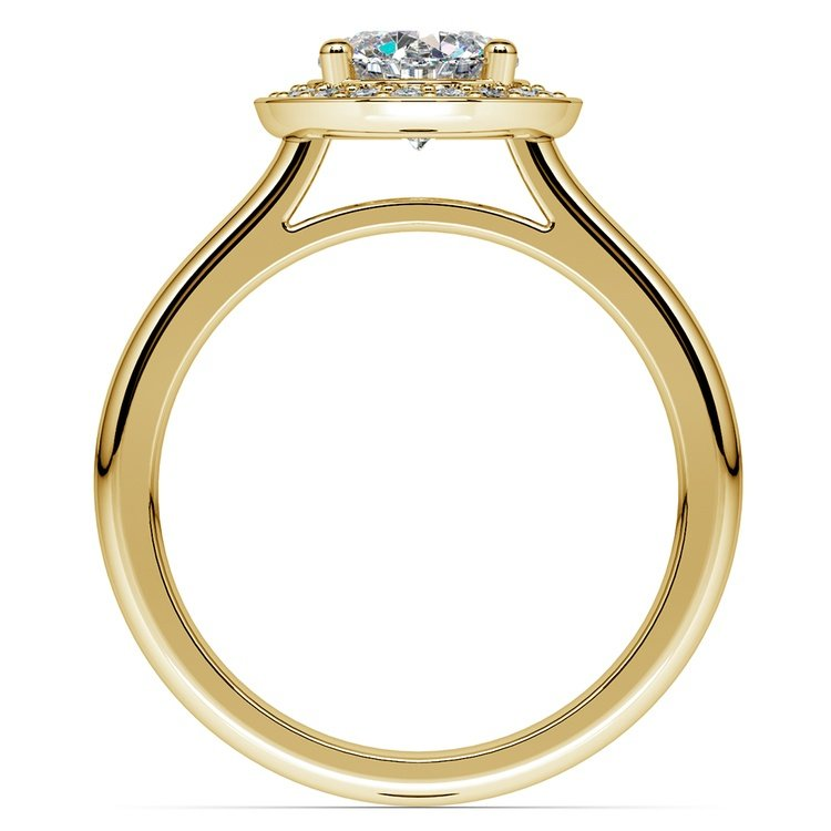 Halo Diamond Engagement Ring in Yellow Gold (1/4 ctw) | 02