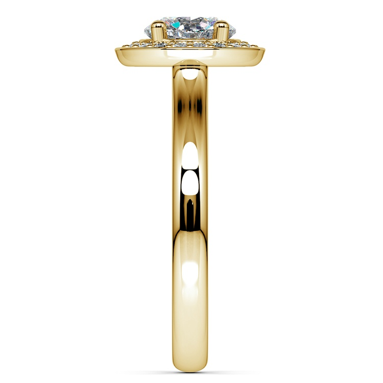 Halo Diamond Engagement Ring in Yellow Gold (1/4 ctw) | 03