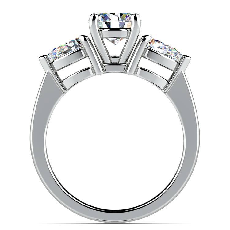 Pear Diamond Engagement Ring in Platinum (3/4 ctw) | 02