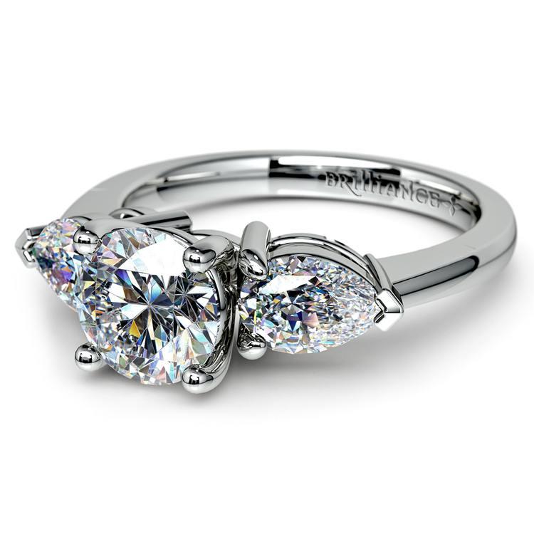 Pear Diamond Engagement Ring in Platinum (3/4 ctw) | 04