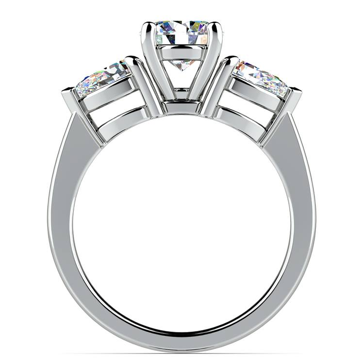 Pear Diamond Engagement Ring in White Gold (3/4 ctw) | 02