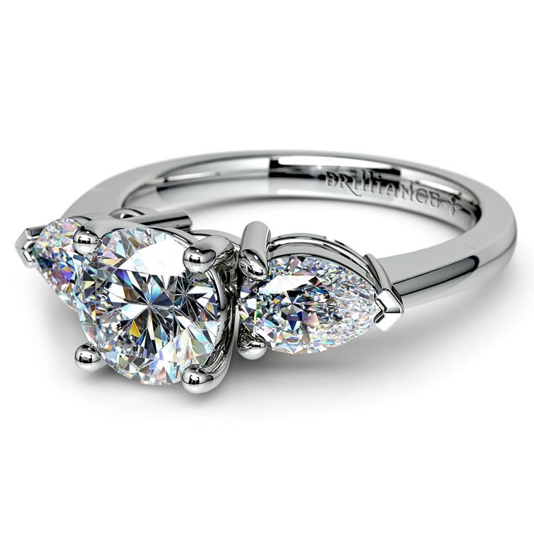 Pear Diamond Engagement Ring in White Gold (3/4 ctw) | 04