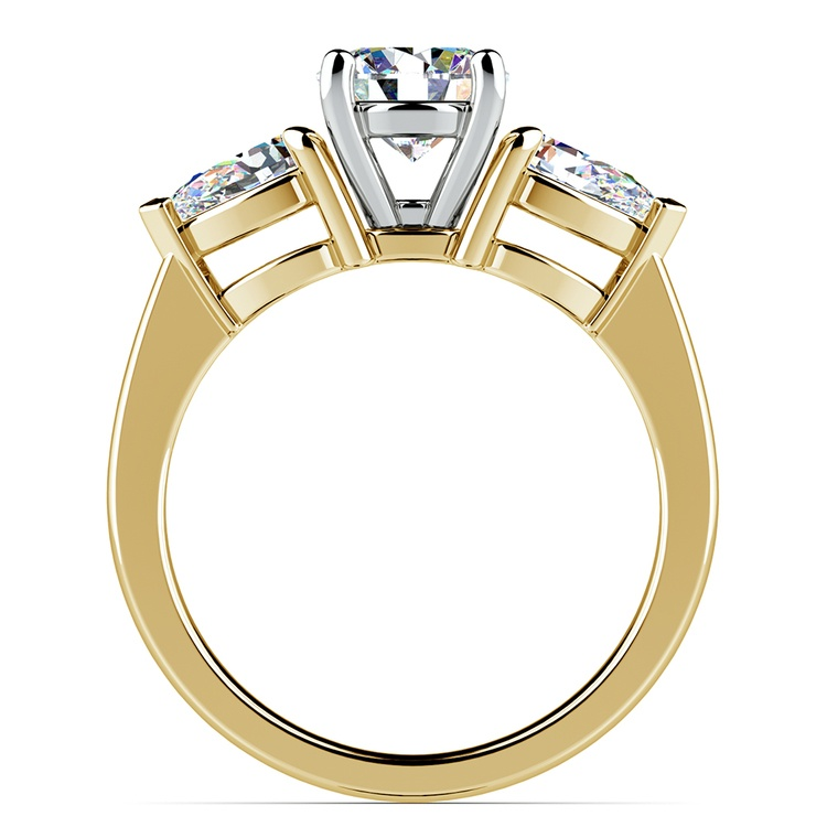 Pear Diamond Engagement Ring in Yellow Gold (3/4 ctw) | 02