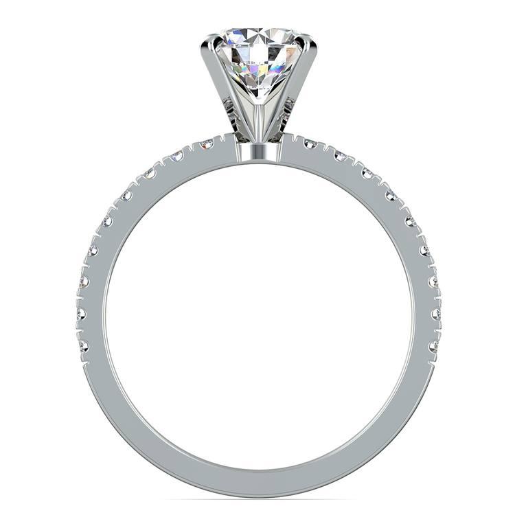 Petite Pave Diamond Engagement Ring in Platinum (1/4 ctw) | 02