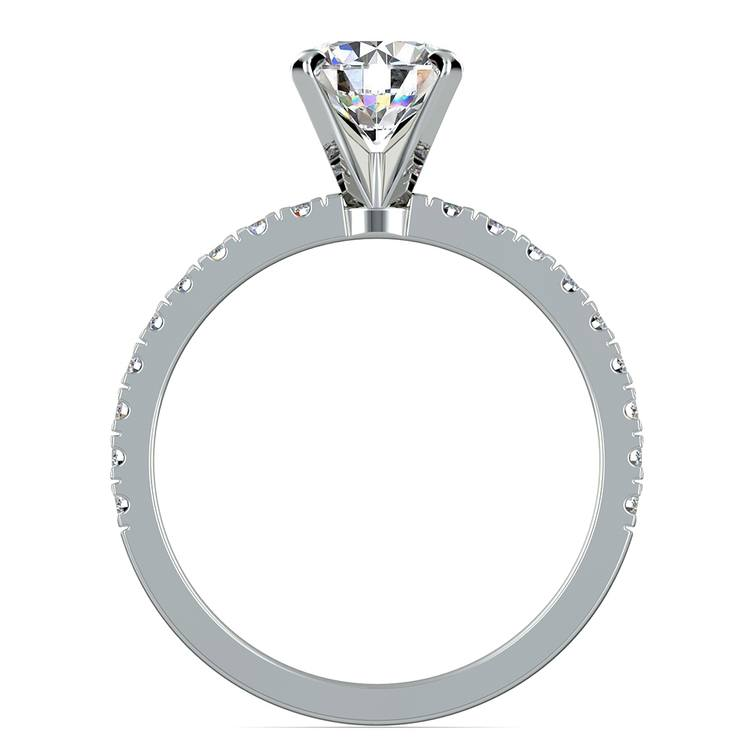 Petite Pave Diamond Engagement Ring in White Gold (1/4 ctw) | 02