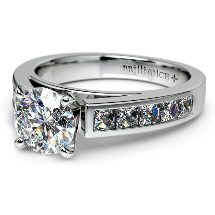 Princess Channel Diamond Engagement Ring in Platinum (3/4 ctw) | 04