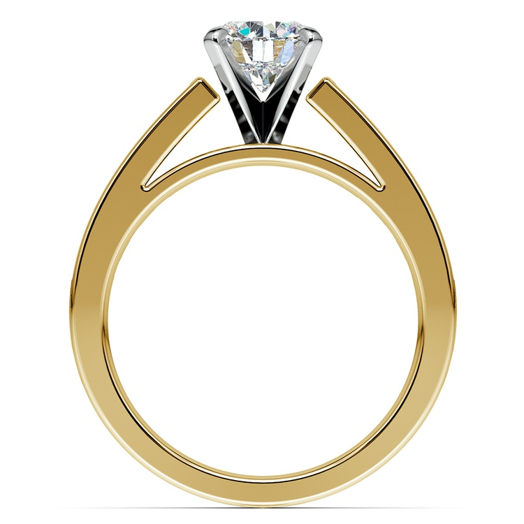 Princess Channel Diamond Engagement Ring in Yellow Gold (3/4 ctw) | 02