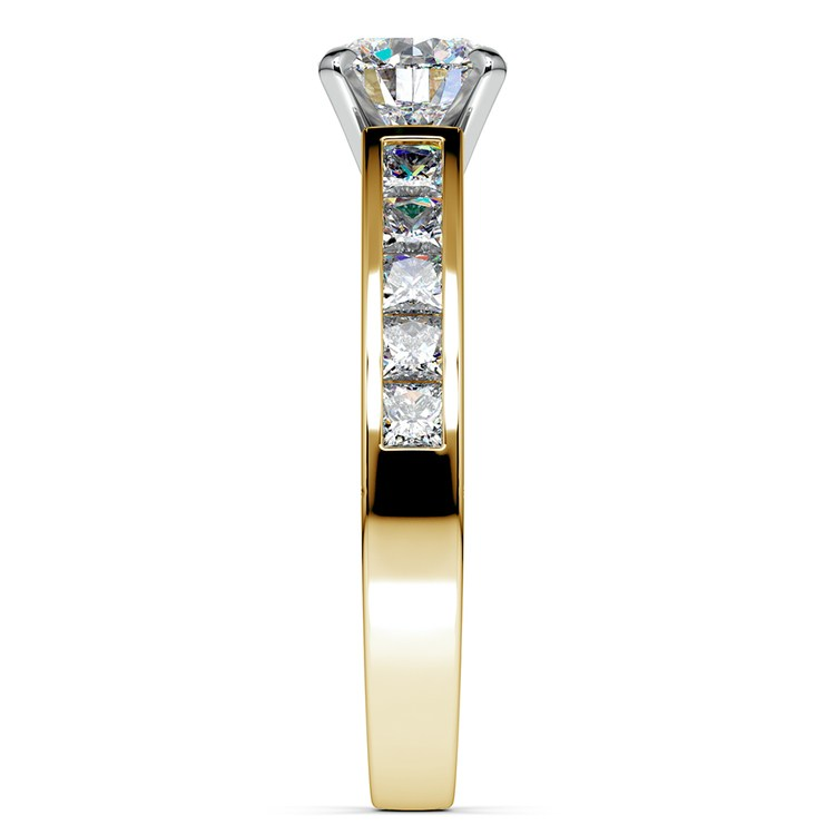Princess Channel Diamond Engagement Ring in Yellow Gold (3/4 ctw) | 03