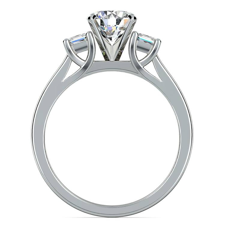 Princess Trellis Diamond Engagement Ring in Platinum (1/4 ctw) | 02