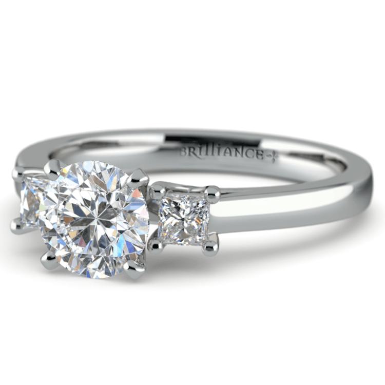 Princess Trellis Diamond Engagement Ring in Platinum (1/4 ctw) | 04