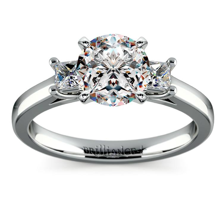 Princess Trellis Diamond Engagement Ring in White Gold (1/4 ctw) | 01