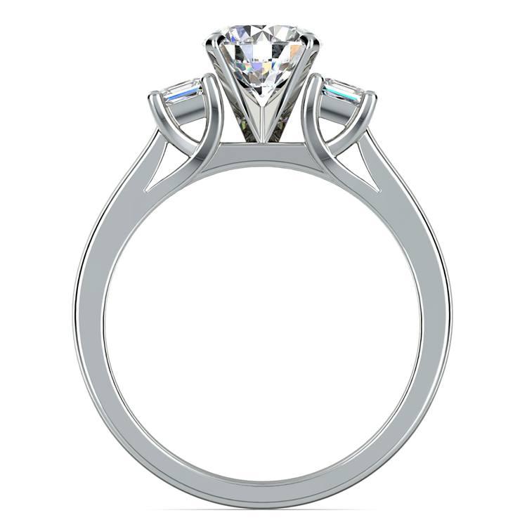 Princess Trellis Diamond Engagement Ring in White Gold (1/4 ctw) | 02