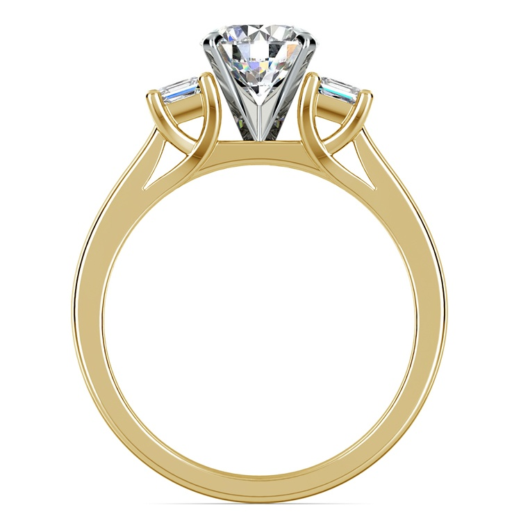 Princess Trellis Diamond Engagement Ring in Yellow Gold (1/4 ctw) | 02