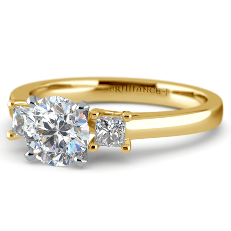 Princess Trellis Diamond Engagement Ring in Yellow Gold (1/4 ctw) | 04