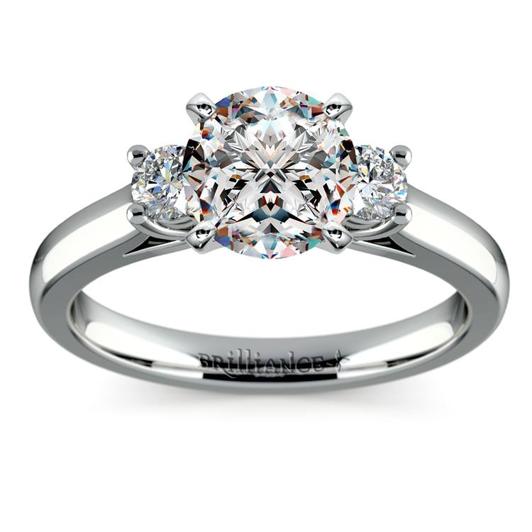 Round Diamond Engagement Ring in White Gold (1/4 ctw) | 01